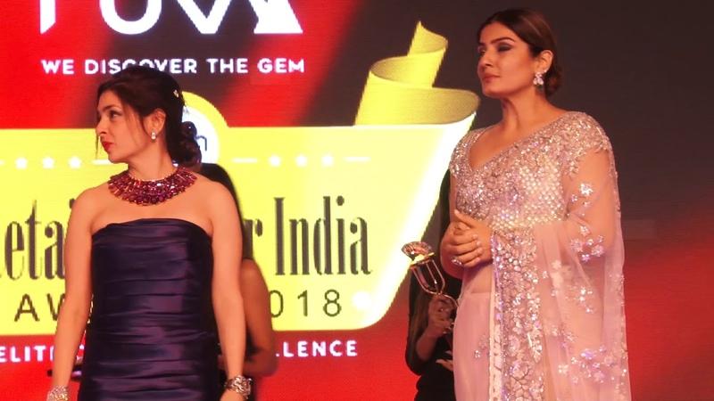 Raveena Tandon Saiyami Kher at Retailers Jeweller Awards 2