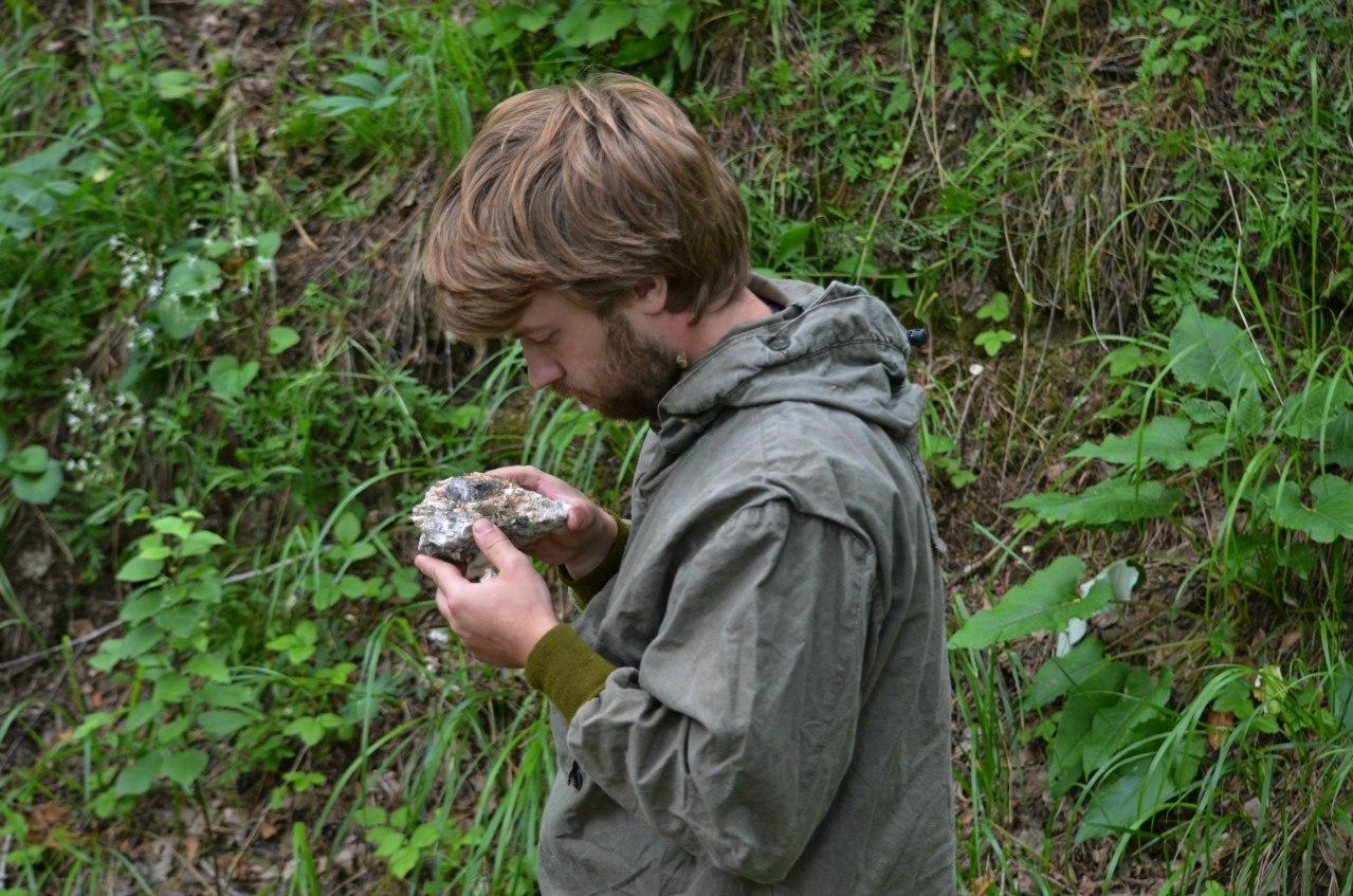 Полевые работы геологов (06.11.2014)