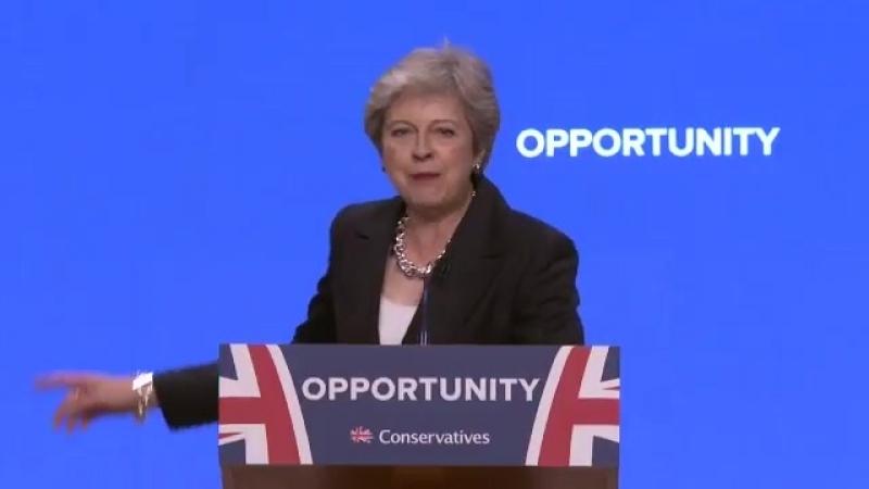 Тереза Мэй эффектно появилась на конференции Консервативной партии