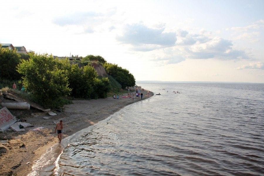 Пляж в селе Ахмат