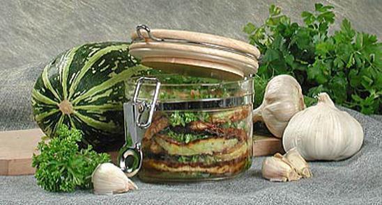 .Жареные кабачки на зиму по-украински