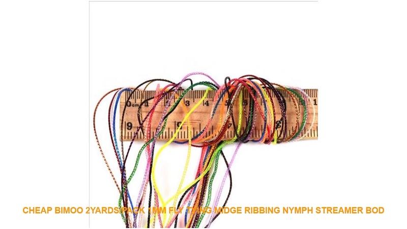 Cheap Bimoo 2yards pack 1mm Fly Tying Midge Ribbing Nymph
