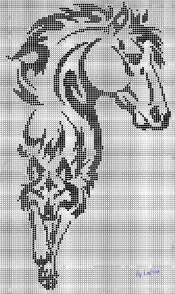 Схема фенечки с лошадью