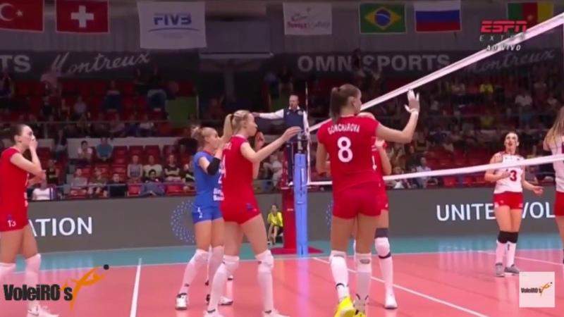 Goncharova dá uma carimba na Eda Erdem e Bola fica presa no teto