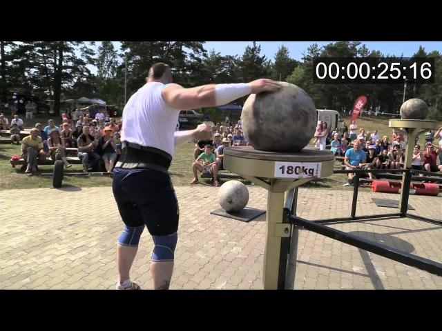 Didzis Zariņš uzstāda jaunu Latvijas rekordu akmeņu celšanā!