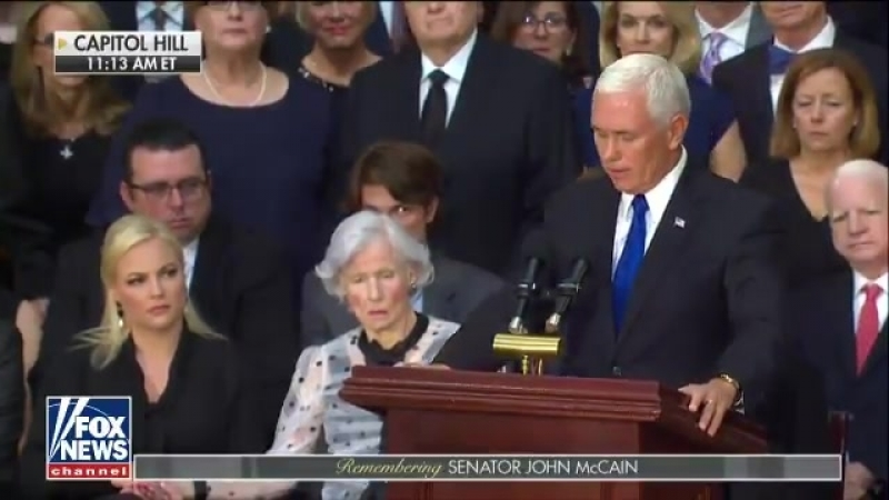 Social media users are convinced Meghan McCain threw 'side-eye' at Pence during memorial