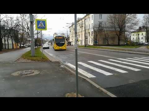 Поездка на электробусе БКМ Е433 Vitovt Max Electro в Минске.
