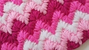 Zigzag Lif / Battaniye modeli /Ripple Puff Stitch