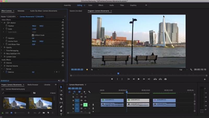 Имитация Движения Камеры в Adobe Premiere Pro. Фейковые Движения Камеры