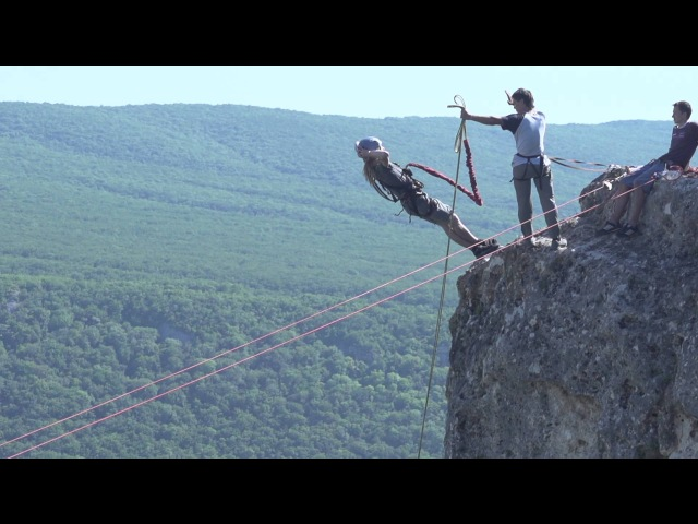 200 fps Back Forward Rope Jumping with Skyline X Team in Crimea