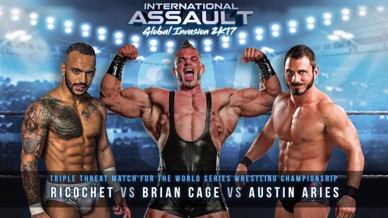 FULL MATCH - Ricochet vs Brian Cage vs Austin Aries: International Assault 2K17