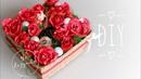 Новогодняя композиция в коробке с конфетами и шампанским DIY Новогодний свитбокс