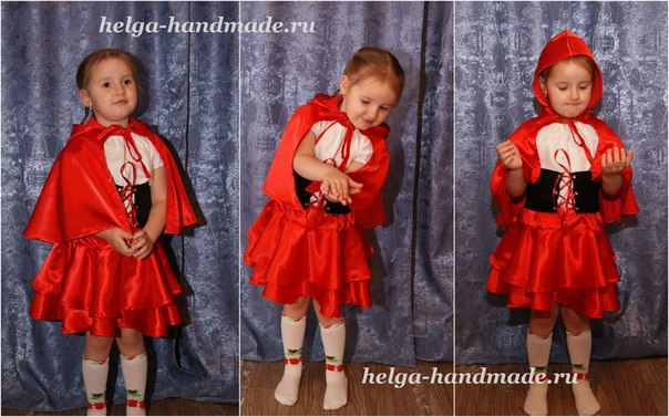 Костюм красной шапочки для девочки сшить своими руками 77