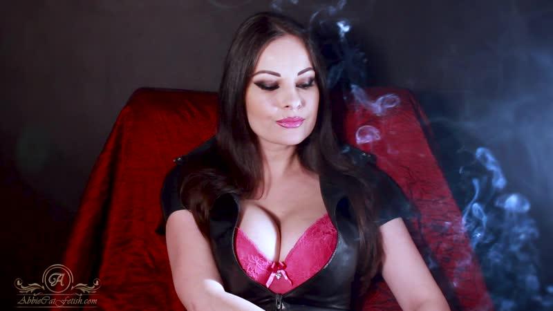 Abbie Cat latex smoking fetish