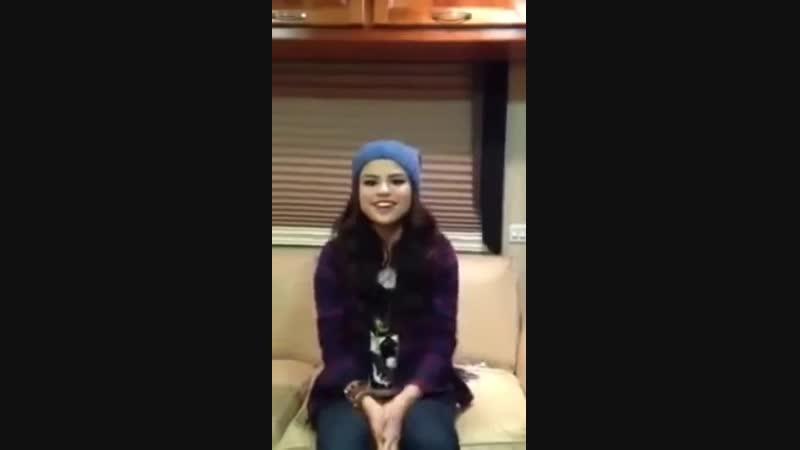 Selena Gomez called us for the first time Selenators (19 November, 2012)