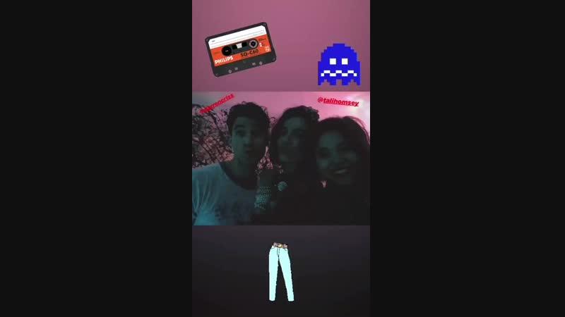 Darren Criss, Camilla Belle Tali Homsey at Glen Powells birthday party