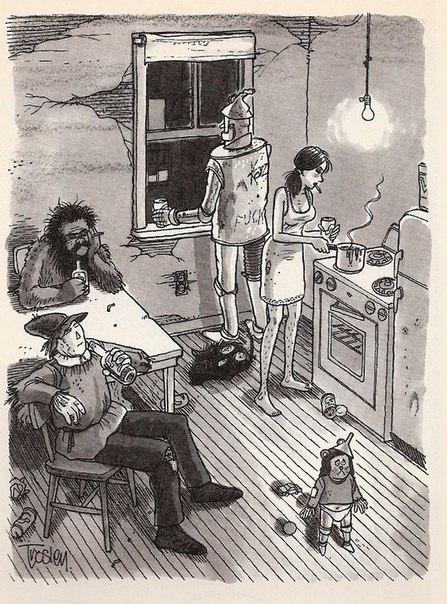 Книга Фрэнка Баума «Удивительный Волшебник из Страны Оз», как политическая сатира на события в Америке конца 19 века Центральные образы Баума персонификация социальных классов тогдашней Америки.