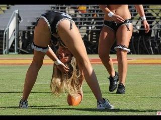Крутые трюки с мячом в американском футболе!