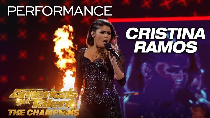 Cristina Ramos SHOCKING Singer Performs Bohemian Rhapsody America's Got Talent The Champions