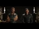 Тор и Локи видят корабль Таноса (сцена после титров)