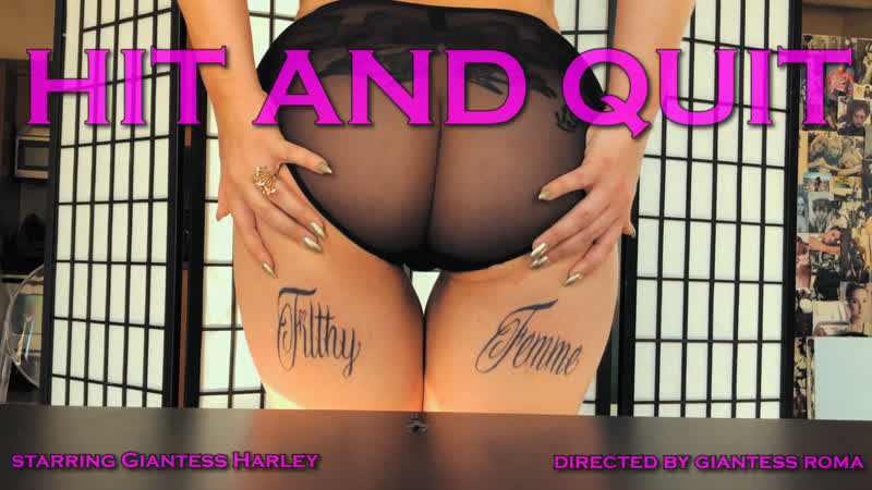"""Giantess Harley Hit and Quit"""" Butt and Boob Crush"""