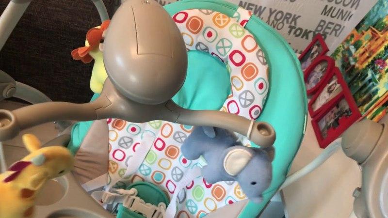 Кресло-качеля шезлонг Tilly Nanny BT-SC-0005 для ребёнка от 0 до 1 года. Видео-обзор.