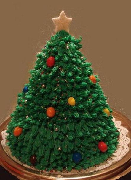 Как сделать елочки на торт фото
