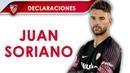 Juan Soriano: Con mi partido no estoy contento, podría haberlo hecho mejor