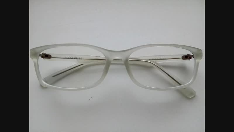 Белые очки, матовая полупрозрачная оправа Salvo, вставка линз по рецепту