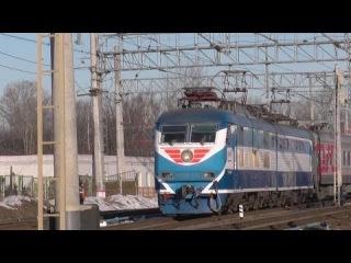 Электровоз ЧС200-004 с поездом №091 (Мурманск → Москва)