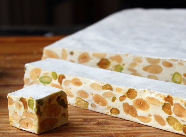 Torrone (Italian Nut Nougat Confection) – Great Valentine's Day Treat!