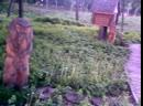 Сказочная поляна с лебедями