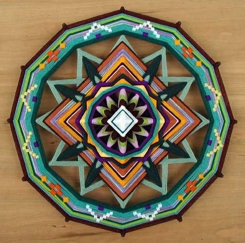 Плетение мандалы мастер класс подробно #5