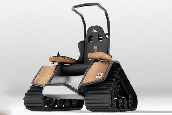 Кресло-внедорожник Ziesel Эдакое электрическое самоходное кресло на стероидах. Ziesel является удобной альтернативой другому транспорту, если надо перемещаться по заснеженным равнинам, песку, лесистой местности и прочим буеракам. Необычное средство передвижения очень маневренное и легко разворачивается буквально на месте. Стоит как «взрослый» автомобиль, но за уникальность приходится платить. Покататься на таком действительно в кайф.