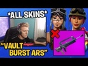 Tfue will *BUY* ALL SKINS if Epic Games Vaults the Burst Assault Rifles Fortnite
