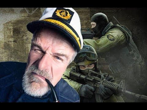 Капитан Щурий играет в CS GO