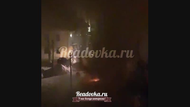 Горят бараки на Черняховского