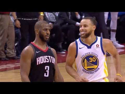 Chris Paul teases Curry 😂😂😂   Warriors vs Rockets Game 5   May 24, 2018   NBA Playoffs