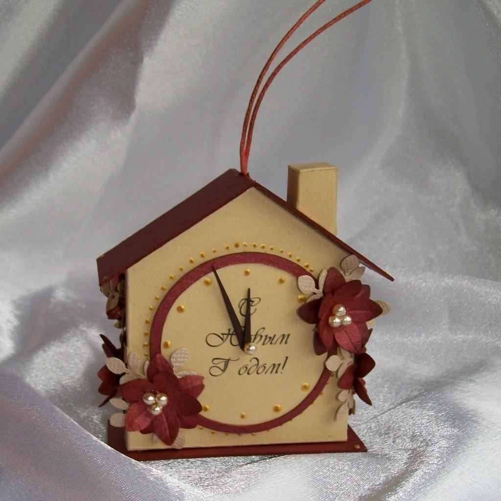 Новогодние домики из картона своими руками мастер