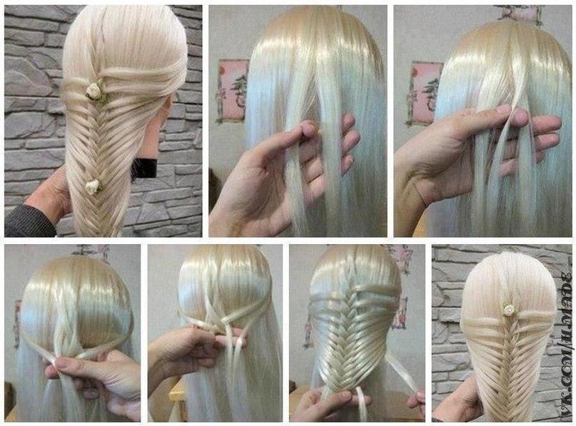 Косички на длинные волосы своими руками видео