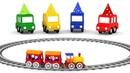 Детские песенки про 4 машинки. Чух чух чух поезд скорый