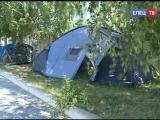 В школе № 1 им. Михаила Пришвина уже вторую смену работает летний палаточный лагерь