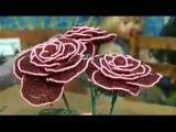 Мастер класс плетение розы из бисера