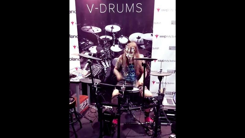 Nick Senpai Dvar V drums (Moscow NAMM 2018)