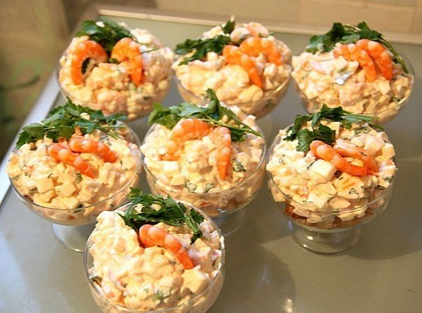 Вкусныеы салатов в креманках с фото