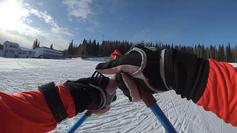 проба лыж и ботинок salomon