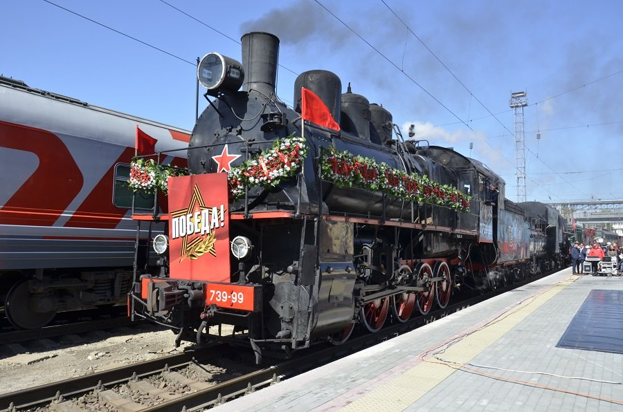 15 апреля в Таганрог прибудет ретропоезд «Победа»