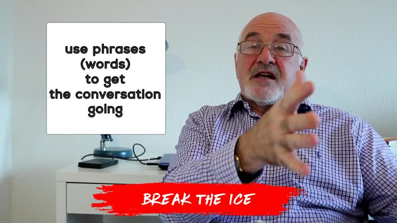 BREAK THE ICE Idiom in English with meaning