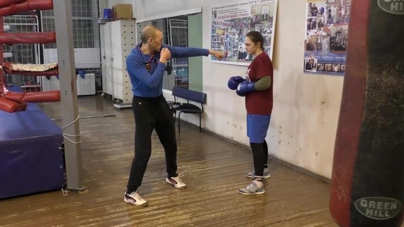 Бокс как усилить хлёсткость удара за счёт подшага