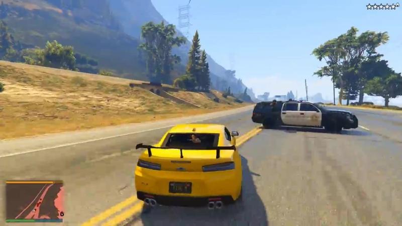 [GARVIN] ПОГОНЯ В GTA 5 - УГОНЯЕМ НА ШЕВРОЛЕ КАМАРО ОТ КОПОВ! Chevrolet Camaro ТОПИТ ОТ ПОЛИЦЕЙСКИХ! ⚡ГАРВИН